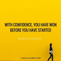 Confidence by Marcus Garvey | Inspirational Quote