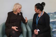 The Duchess of Cornwall meeting staff at The Haven which is run by King's College Hospital, central London. 23rd January 2014