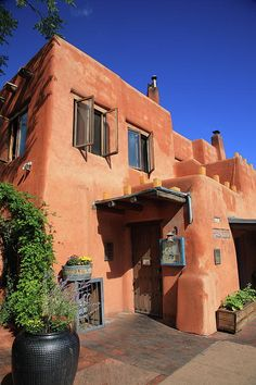 Santa Fe, New Mexico. Love the color of adobe.