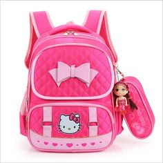 Hello Kitty School Bag //Price: $46.99 & FREE Shipping // World of Hello Kitty http://worldofhellokitty.com/hello-kitty-children-school-bags-for-girls-kids-schoolbag-cartoon-kids-school-backpacks-mochila-infantil-4-colors-ewx/    #hellokitty
