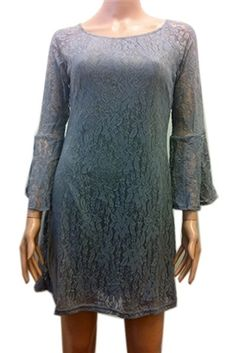 Gray lace dress.  Stretchy, comfortable, classy.