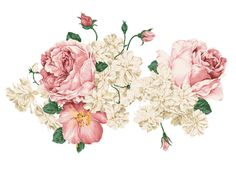 600 Wall Decor Stickers, Pink Peonies, Vinyl Wall Decals, Decoration, Watercolor Flowers, Vintage Floral, Scrapbook Paper, Wall Murals, Overlays