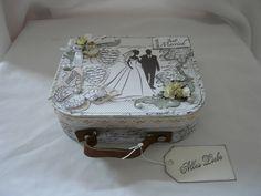 Geldgeschenke - Geldgeschenk  Hochzeit  Geschenkschachtel Koffer - ein Designerstück von Froehlich-Elena bei DaWanda