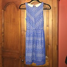 Beautiful blue summer dress size S Beautiful dress brand new only wore once size S. Super cute with some wedges or cute sandals perfect for summer ! Crystal doll Dresses Mini