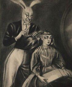 Kuniyoshi Kaneko | 金子國義 アリスの夢 『 髪をすかれるアリス 』