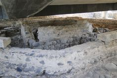 Peter's house, under the glass floor of the modern church at Capernaum.