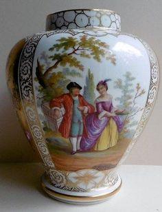 Antique Dresden Vase or Urn Helena Wolfsohn ? 5