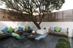 Check out this property for sale on Rightmove! Modern Patio Design, Urban Garden Design, Modern Courtyard, Contemporary Garden Design, Outdoor Rooms, Outdoor Sofa, Outdoor Gardens, Outdoor Furniture Sets, Outdoor Decor