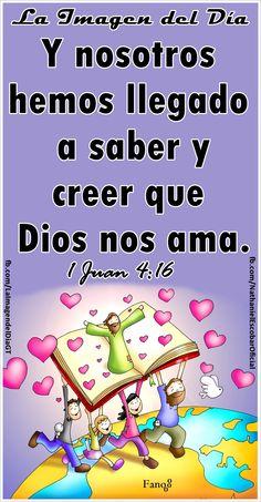 """16 de febrero de 2015 - """"Y nosotros hemos llegado a saber y creer que Dios nos ama"""" 1 Juan 4:16 . #LaImagendelDia Ilustración: Fano"""