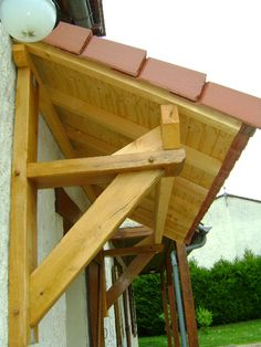 Pergola To House Attachment Porch Awning, Porch Roof, Deck With Pergola, Covered Pergola, Pergola Roof, Front Door Canopy, Door Overhang, Backyard Hammock, Window Awnings