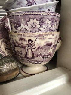 Hidden Garden, Sweet Violets, English China, Vintage Dishes, China Porcelain, Teacups, Earthenware, Cutlery, Vintage Decor