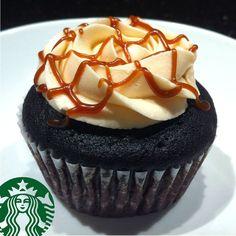 found my fav Starbucks drink in a cupcake form - caramel macchiato .... heaven