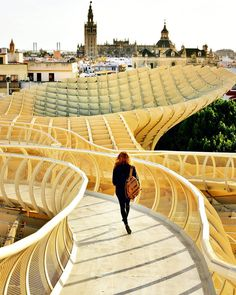 SEVILLA, SPAIN. Hands down one of our #Sevilla highlights Metropol Parasol. #AndaluciaRoadTrip by aworldtotravel