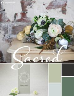 Wedding Color Trends    Winter Wedding Color Palette: Sage, Ice, White, and Sky   MagnetStreet Weddings