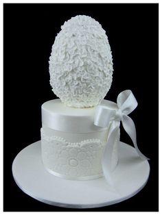 Elegant Easter egg cake