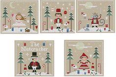 Would make cute pillows or ornaments. The Nutcracker Cross Stitch Pattern Set. $7.50, via Etsy.
