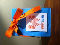 Teacher appreciation gift - Whataburger gift card, pens, pencils ...
