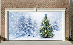 Christmas Garage Door Covers 3d Banners Christmas Decorations Outdoor Billboard Murals GD51