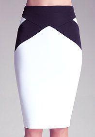 bebe Seam Body Midi Skirt
