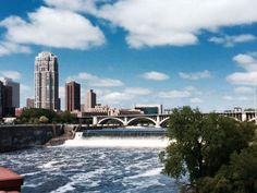 St. Anthony's Falls in St. Paul, Minnesota