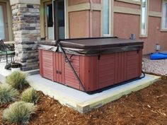 The EZ Pad is a true time and money saver. Looks great and could be a backyard alternative. Hot Tub Backyard, Backyard Playground, Backyard Ideas, Jacuzzi Outdoor, Outdoor Spa, Outside Living, Outdoor Living, Intex Hot Tub, Patio Under Decks