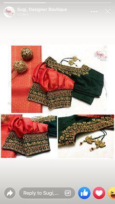 Blouse Designs Catalogue, Wedding Saree Blouse Designs, Fancy Blouse Designs, Traditional Blouse Designs, Stylish Blouse Design, Designer Blouse Patterns, Latest Maggam Work Blouses, Sarees, India Shopping