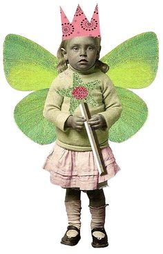 FAIRY WITH CROWN, WINGS AND WAND PNG - TRANSPARENCY / OVERLAY FOR PERSONAL USE
