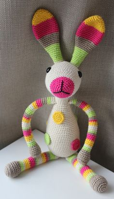 Mesmerizing Crochet an Amigurumi Rabbit Ideas. Lovely Crochet an Amigurumi Rabbit Ideas. Easter Crochet, Diy Crochet, Crochet Dolls, Knitted Bunnies, Crochet Rabbit, Crochet Curtains, Crochet Humor, Stuffed Toys Patterns, Amigurumi Doll