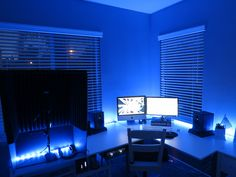 Yes, blue is my favorite color. :) This is my home studio- woo! (voice over)