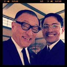 THE MAN IN HIGH CASTLE - Cary-Hiroyuki Tagawa and Joel de la Fuente on the set Season 2