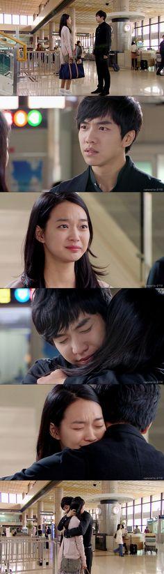 Dae Woong para a buscar a Miho al aeropuerto para evitar que se vaya - My Girlfriend is a Gumiho Ep 16
