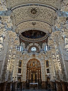 Amazing Buildings, Amazing Architecture, Architecture Design, Granada, Baroque Art, Church Interior, Cathedral Church, Place Of Worship, Art History