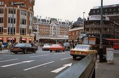Victoria Street, London SW1, looking towards Victoria Station, August 1981.