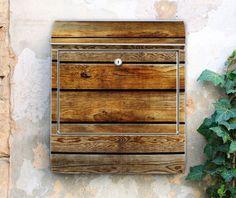 Motiv Briefkasten Holzbretter Muster Dielen Holz von banjado auf DaWanda.com