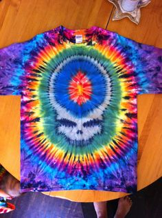 Steal Your Face Tie Dye Mens Tee. Size XL