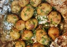 Mustard Aioli-Grilled Potatoes with Herbs / Pike Nurseries