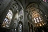 Church : St. Michael and St. Gudula Cathedral located at the Treurenberg hill in Brussels, Belgium.