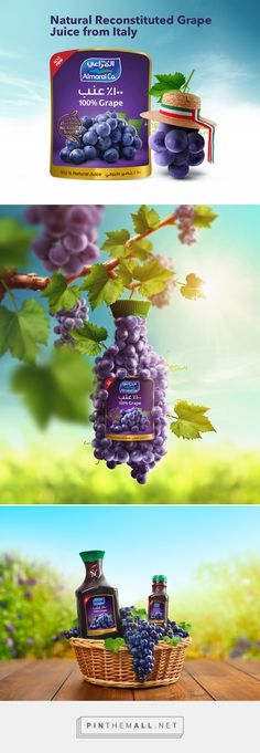 Almarai - Natural Grape on Behance - created via https://pinthemall.net