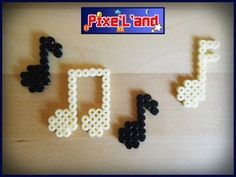 Music notes pixel art hama perler by Pix'L'and
