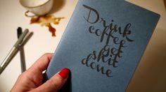 """Notizhefte - A6 Notizbuch """"Drink coffee, get shit done"""" - ein Designerstück von MamaTortuga bei DaWanda"""