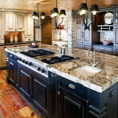 Simple Kitchen Island With Sink And Stove Top Design Photo Seating