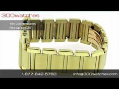Men's #Cartier Tank Francaise 1830 18K Yellow Gold Quartz Chronograph Date Watch