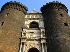 Castel Nuevo, in Naples, Italy  from http://www.nonstopfromjfk.com/exploring-naples-italy/