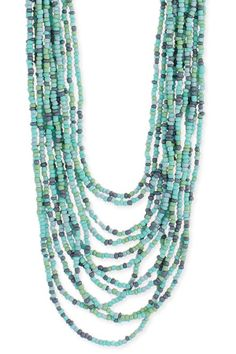 wanty-- turquoise bead necklace