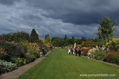 The Mixed Borders at RHS Garden Wisley, pictured on the October