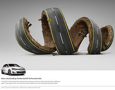 The Print Ad titled Razor Sharp Handling was done by Ogilvy Cape Town advertising agency for product: Volkswagen Golf Gti (brand: Volkswagen) in South Africa. Ads Creative, Creative Posters, Creative Advertising, Creative Director, Creative Business, Car Advertising, Advertising Design, Ogilvy Mather, Ad Of The World