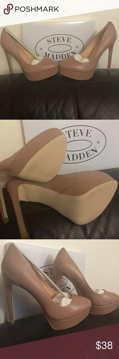 5a2684fed2f Shop Women s Steve Madden Cream Tan size 8 Heels at a discounted price at  Poshmark.
