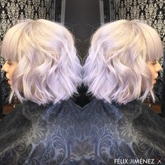 silver/white ICE BLONDE  KENRA color 10SM silver metallic