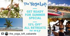Get ready for summer 2018 with us and @the_yoga_loft_cabarete and save 15% on all our Yoga retreats in May  besides eco friendly accommodation farm to table dishes 2 yoga classes per day are included. Choose a fantastic add on activity like circus fitness kitesurfing or surfing and you are set for #summer  #reposr Get Ready For Summer 2018!  15% Off of all Individual Yoga Retreats in May 2018!  Check link in bio for more details #yogaretreat #surfretreat #yogaeverydamnday #specialoffer… Yoga Holidays, Caribbean Vacations, Summer Special, Yoga Classes, Get Ready, Yoga Retreat, Beachbody, Eco Friendly, Surfing