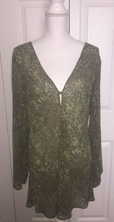 Victoria's Secret Green Animal Print Sheer Night Gown Size Large NEW Swim Cover?    eBay